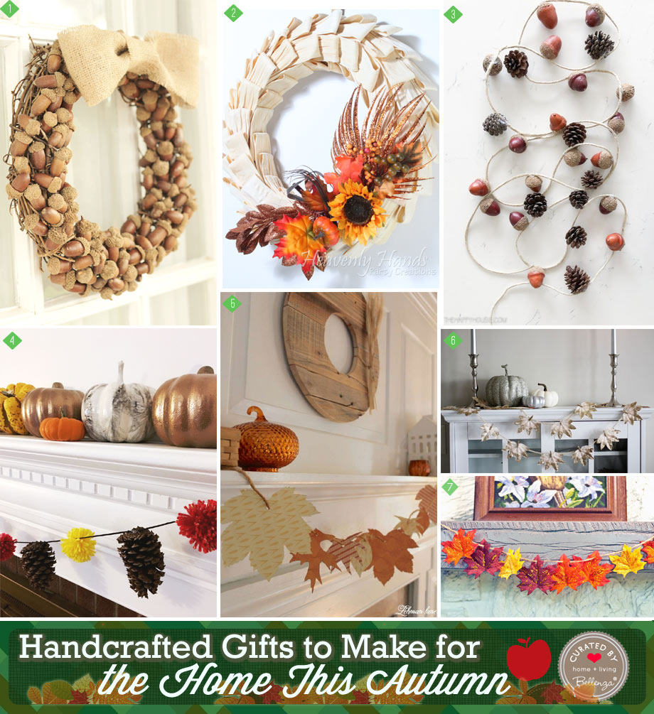 autumn garlands and wreaths to make as gifts