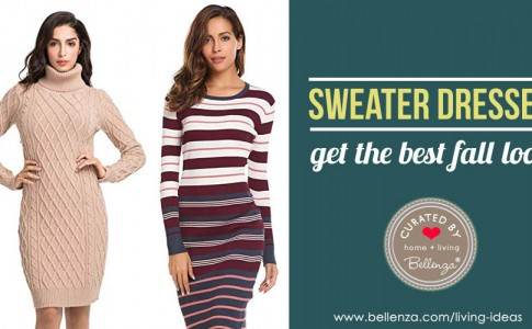 12 Stylish Sweater Dresses to Get the Best Look this Fall!