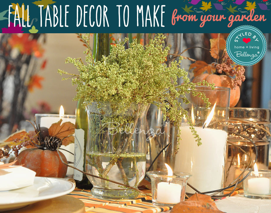 fall foliage table decor