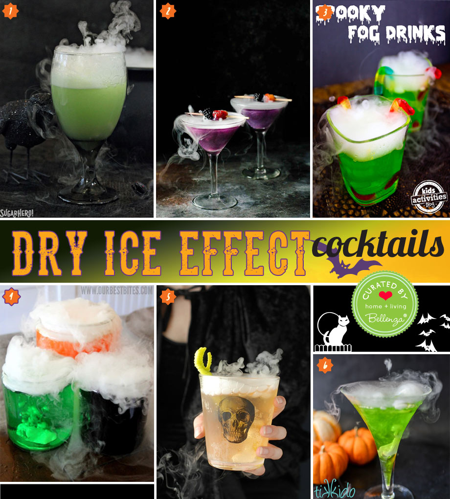 How to prepare drinks with Halloween dry ice