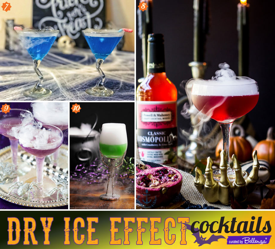 Halloween drinks with dry ice