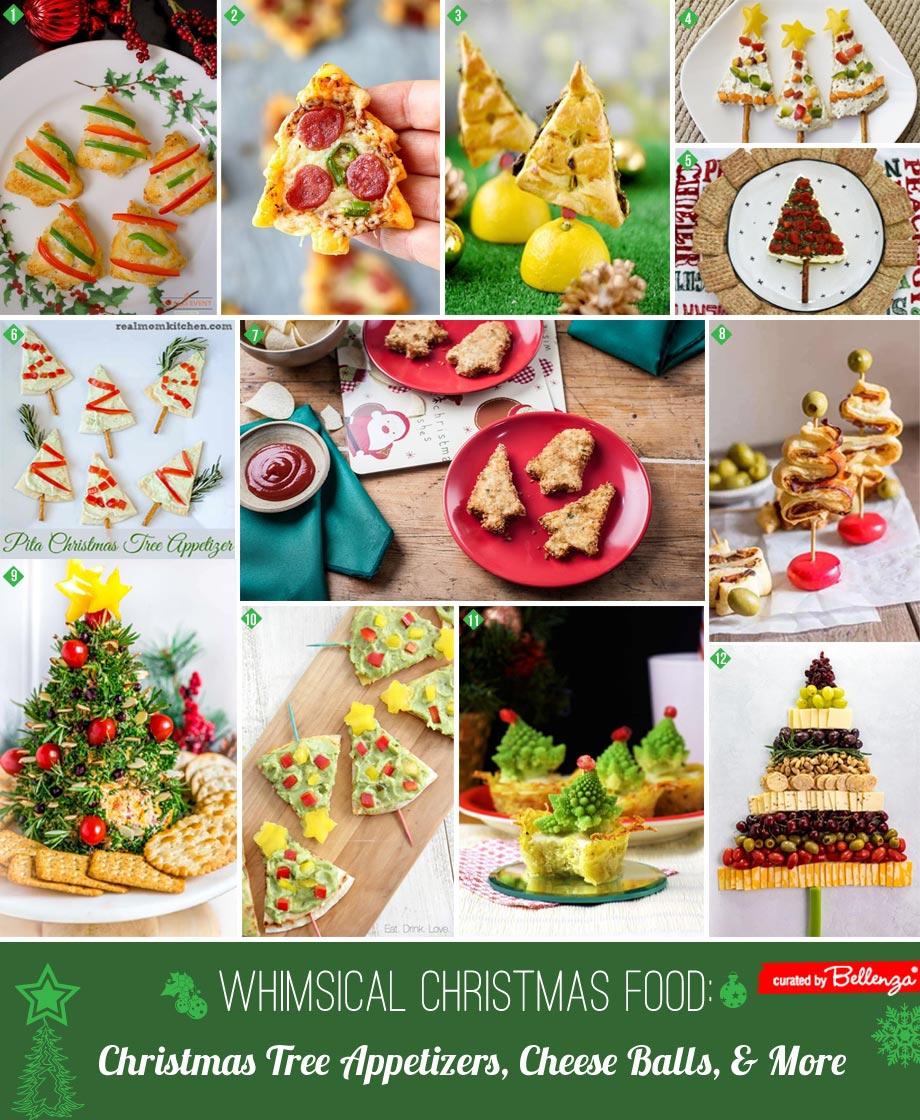 Christmas tree themed food