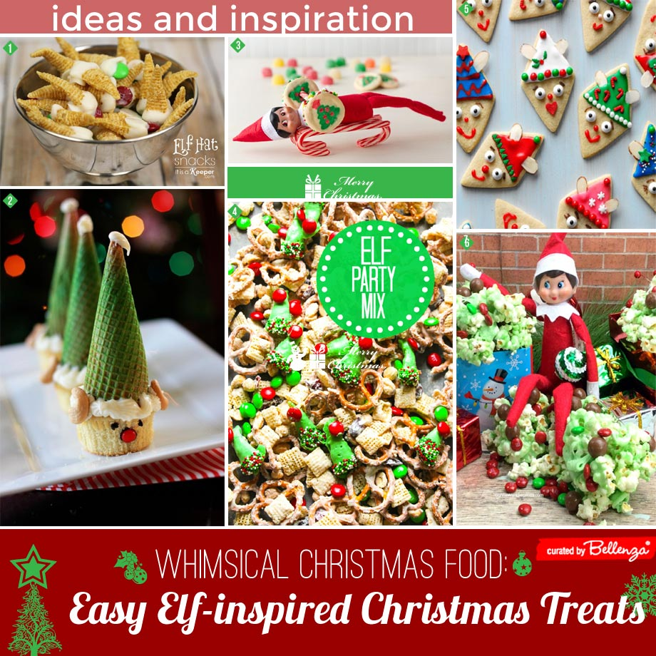 Elf themed Christmas appetizers and treats