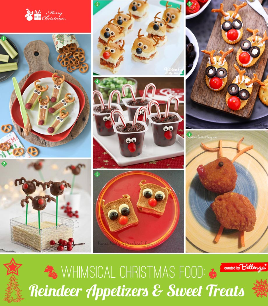 Reindeer themed appetizers and finger foods