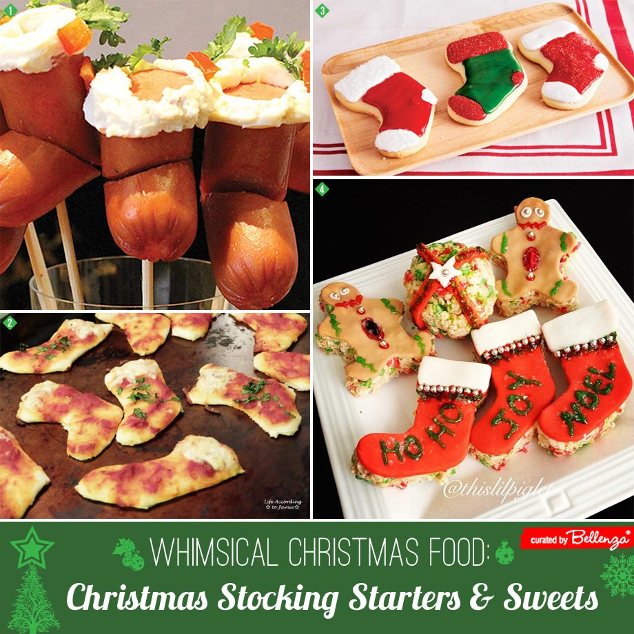 Christmas stocking themed food