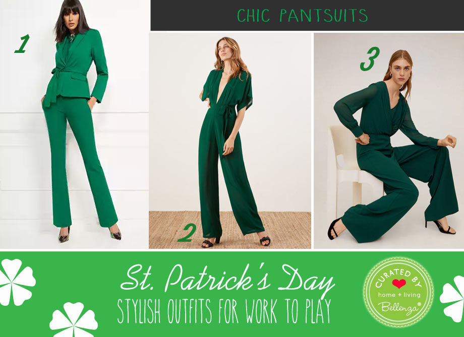 Pantsuits in Emerald Green