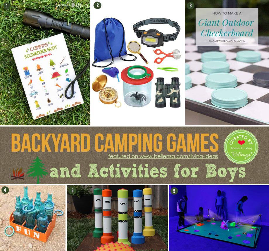 Backyard Camping Games and Activities for Boys