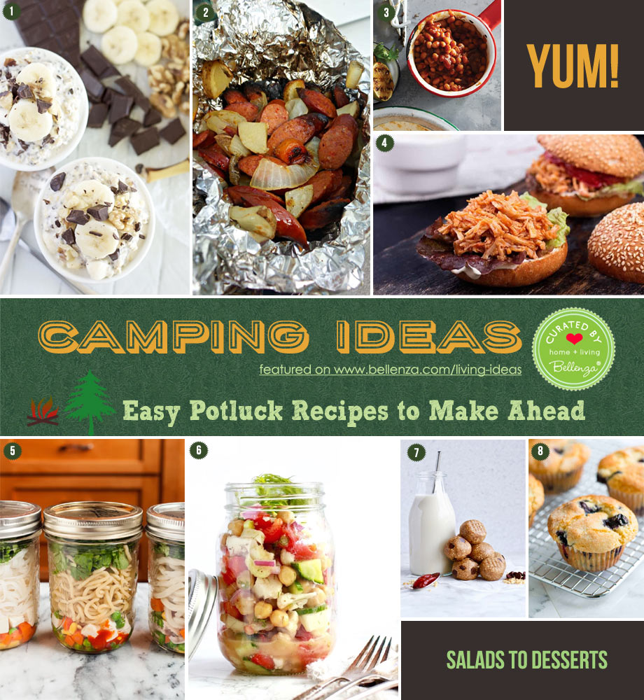 Make-ahead Camping Food Recipes from Breakfast to Snacks