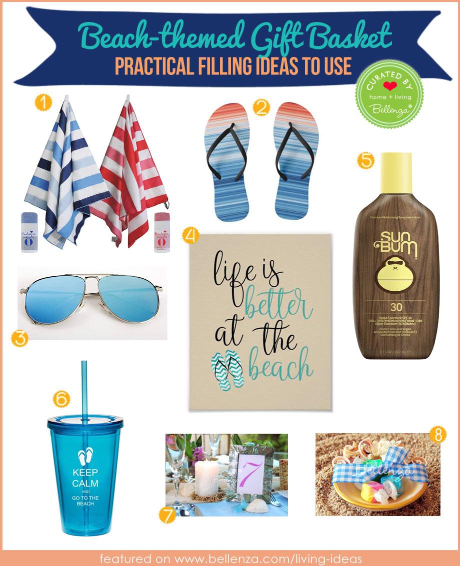 DIY Beach housewarming themed gift basket