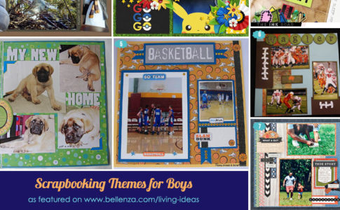 Scrapbooking theme layouts for boys