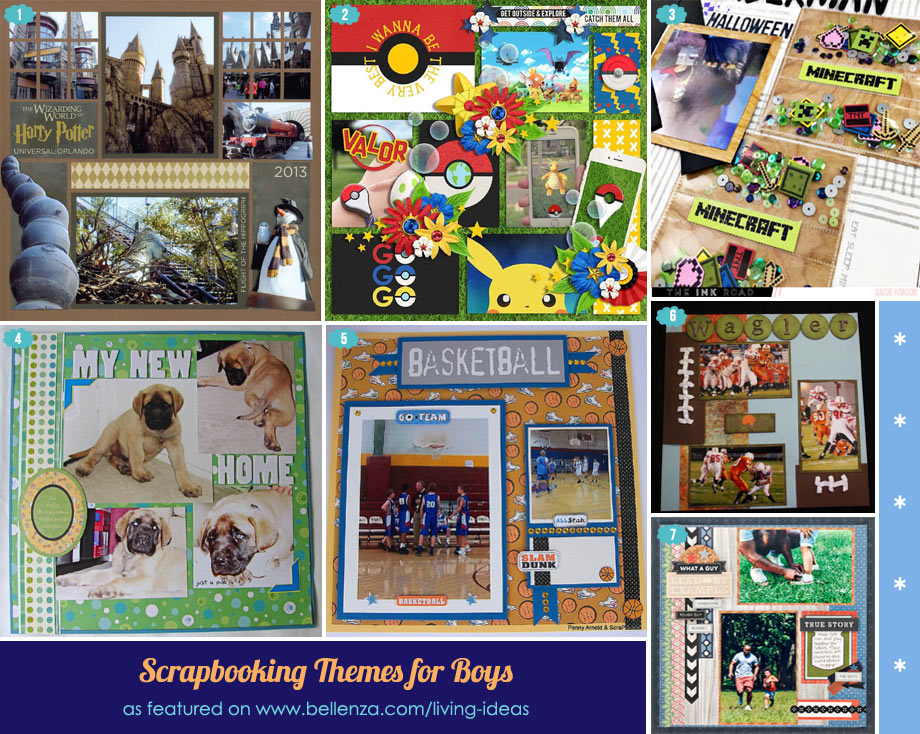 Scrapbook ideas for boys