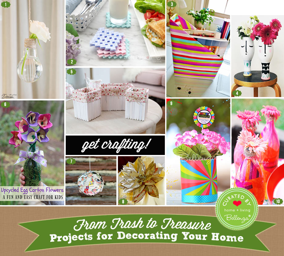 10 DIY Decor Projects to Make from Upcycled Items this Spring. Make Vases to Magazine Holders.