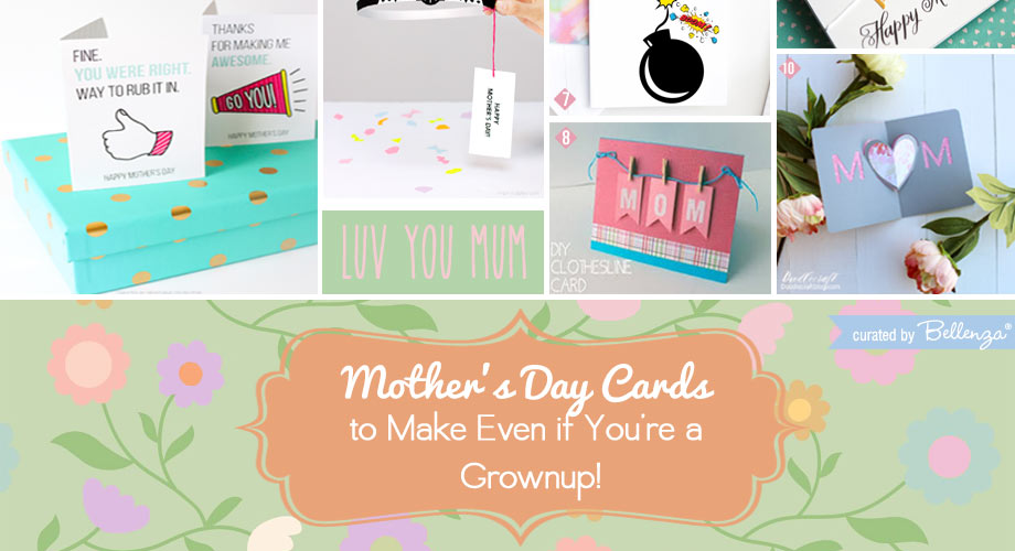creative mother's day cards for grownups to make