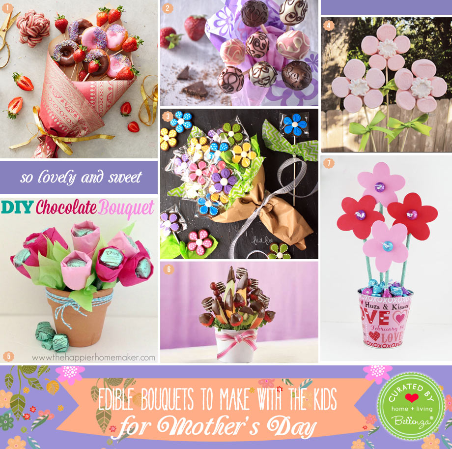 7 Edible Bouquets to Make for Mother's Day from the Kids