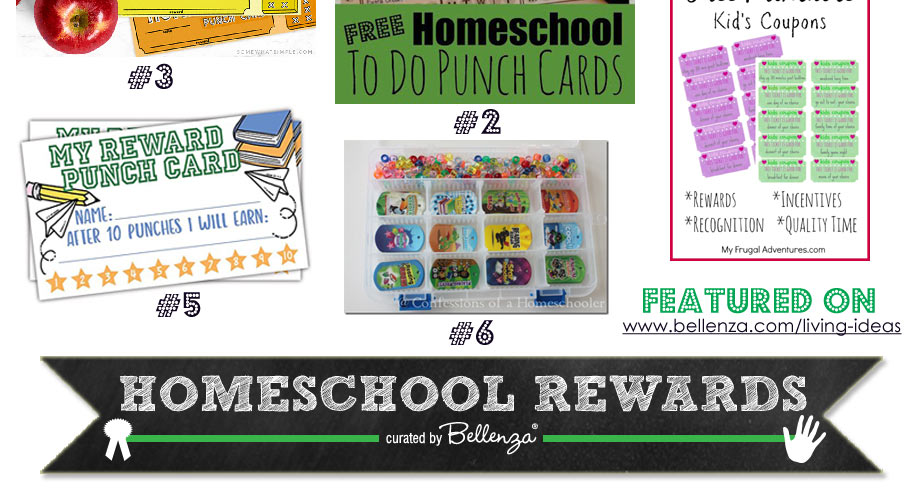 Printable School Punch Cards and Coupons
