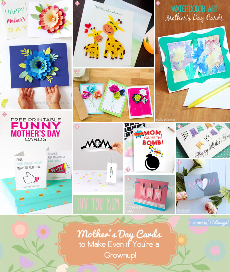 10 Mother's Day Cards for Grownups to Make