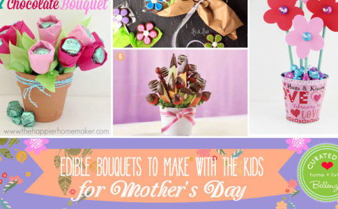 Edible nouquets to make with kids