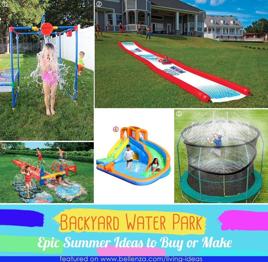 Buyable backyard waterpark products