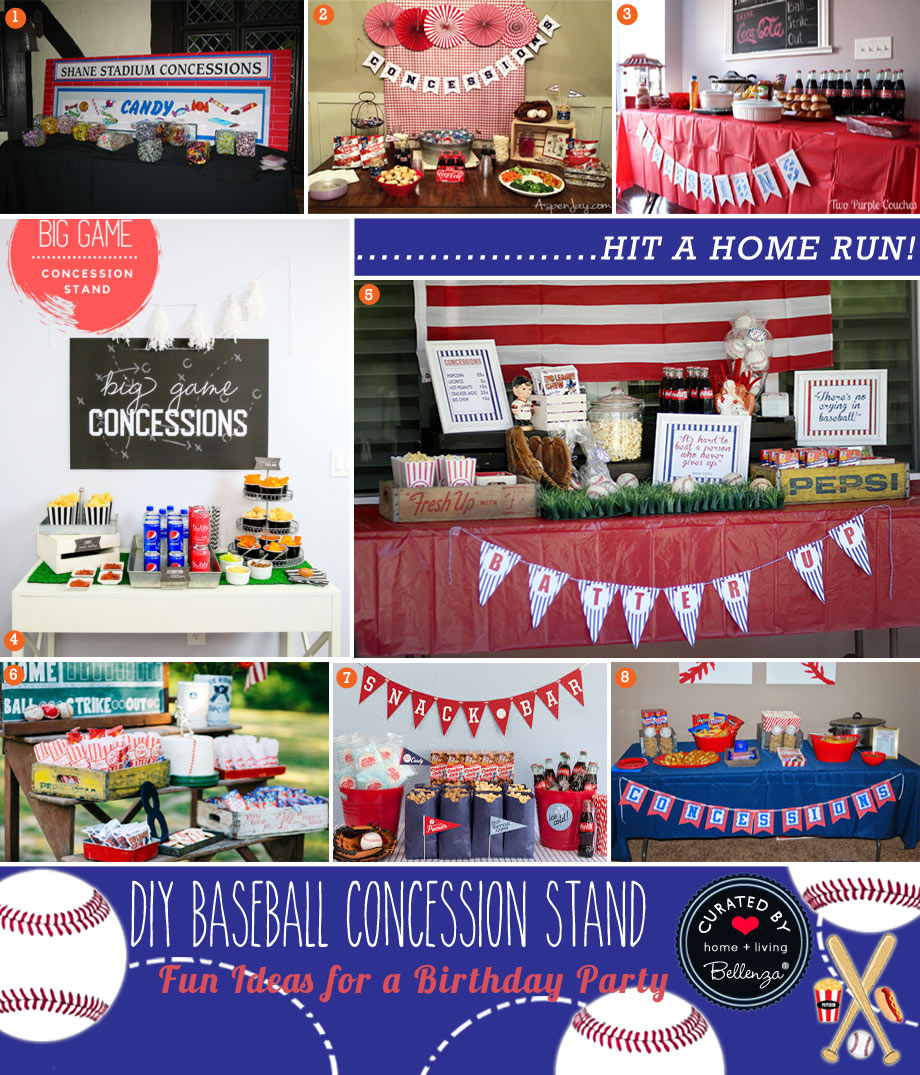 DIY Baseball Concession Stand Ideas