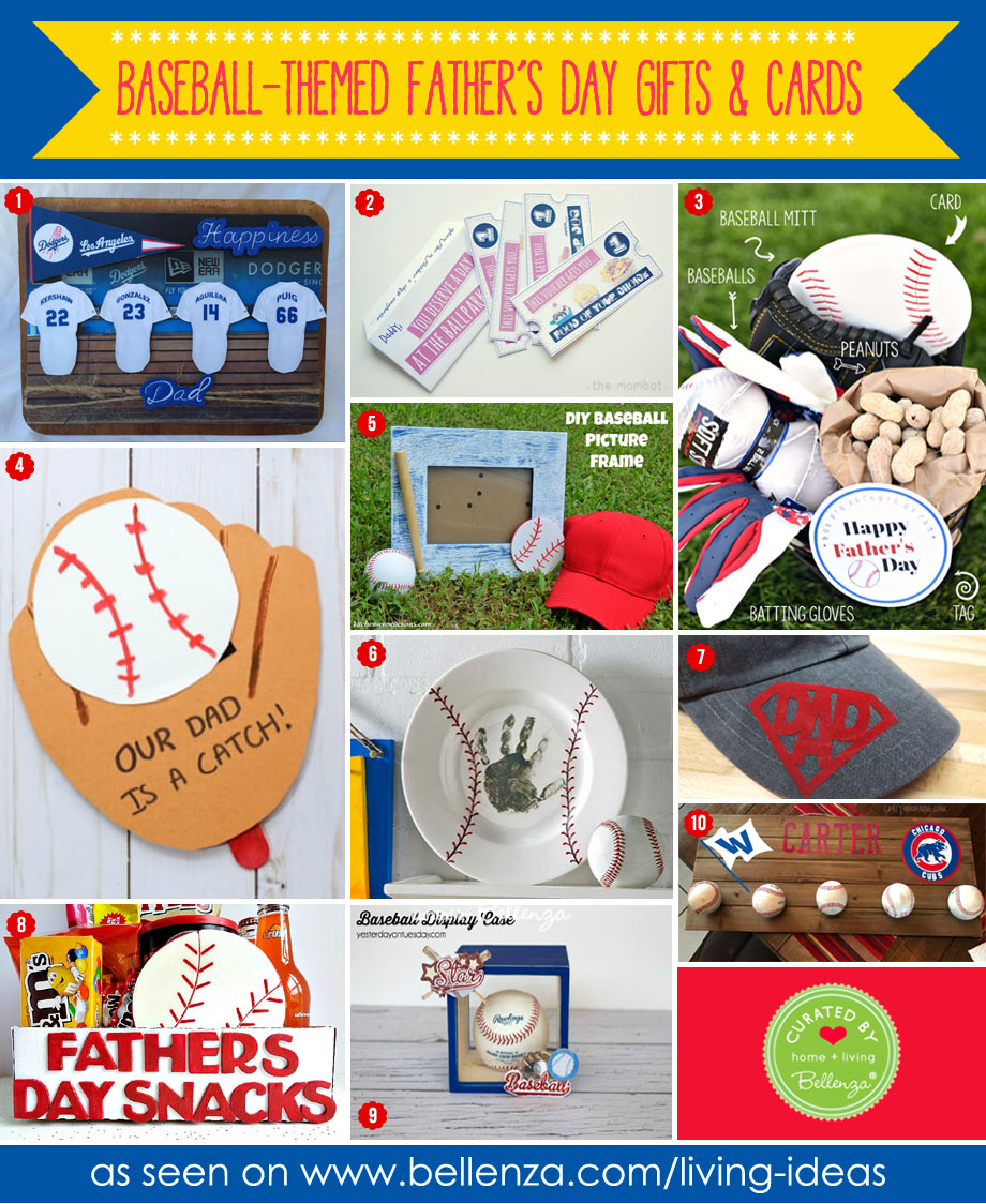 10 Baseball themed cards and gifts to make for dad.