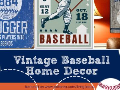 Vintage Baseball Themed Home Decor Accents to Make or Buy