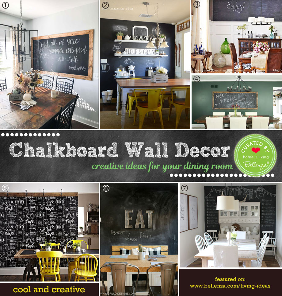 How To Create Chalkboard Wall Decor For Your Dining Room Bellenza Weddings And Parties