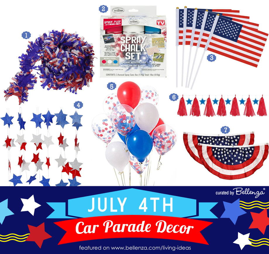 Patriotic Car Decorating Supplies