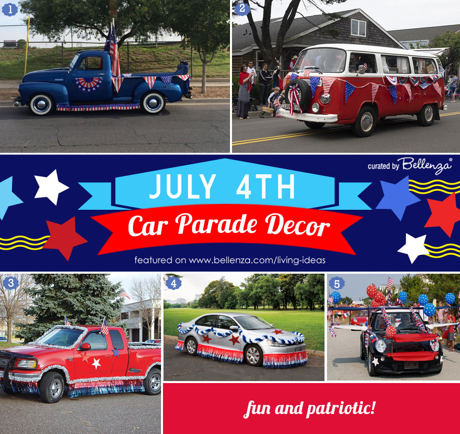 Inspiration for July 4th Parade Cars