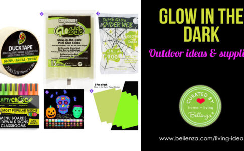 Easy DIY Outdoor Glow-in-the-Dark Halloween Decorations
