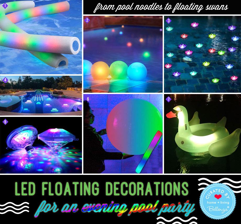 LED and Battery-powered Pool Decor for Evenings