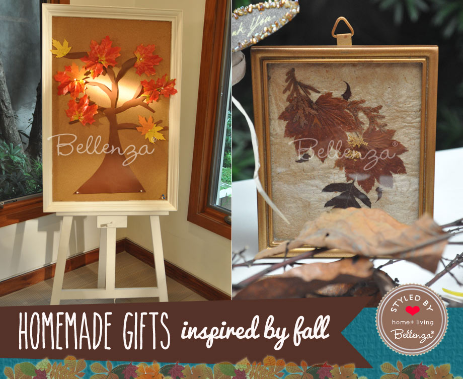 3 - Frames with Pressed Autumn Leaves