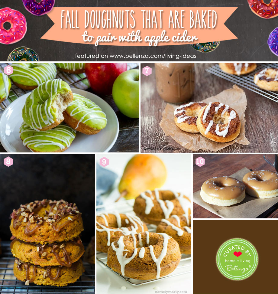 Fall Baked Donuts to Enjoy with Hot Apple Cider from Banana Bread to Salted Caramel Donuts