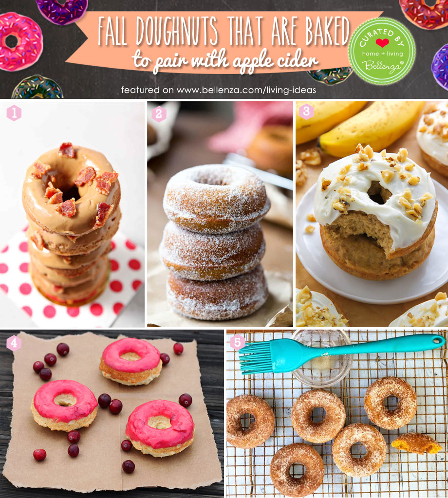 Fall Baked Donuts to Enjoy with Hot Apple Cider from Gingerbread to Bacon Maple Donuts