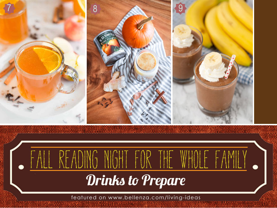 Fall Drinks for Family Reading Night