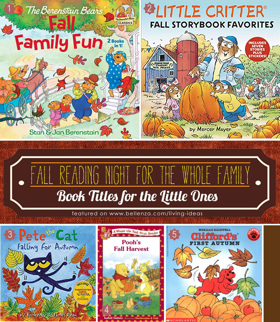 Family Reading Nights Book Titles for Autumn