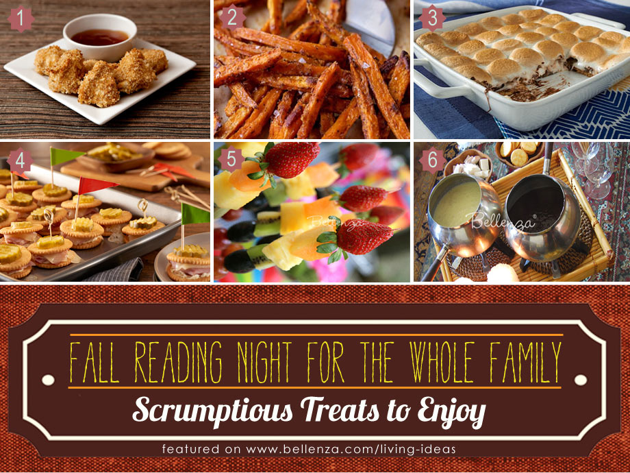 Autumn Treats and Food for Family Reading Night