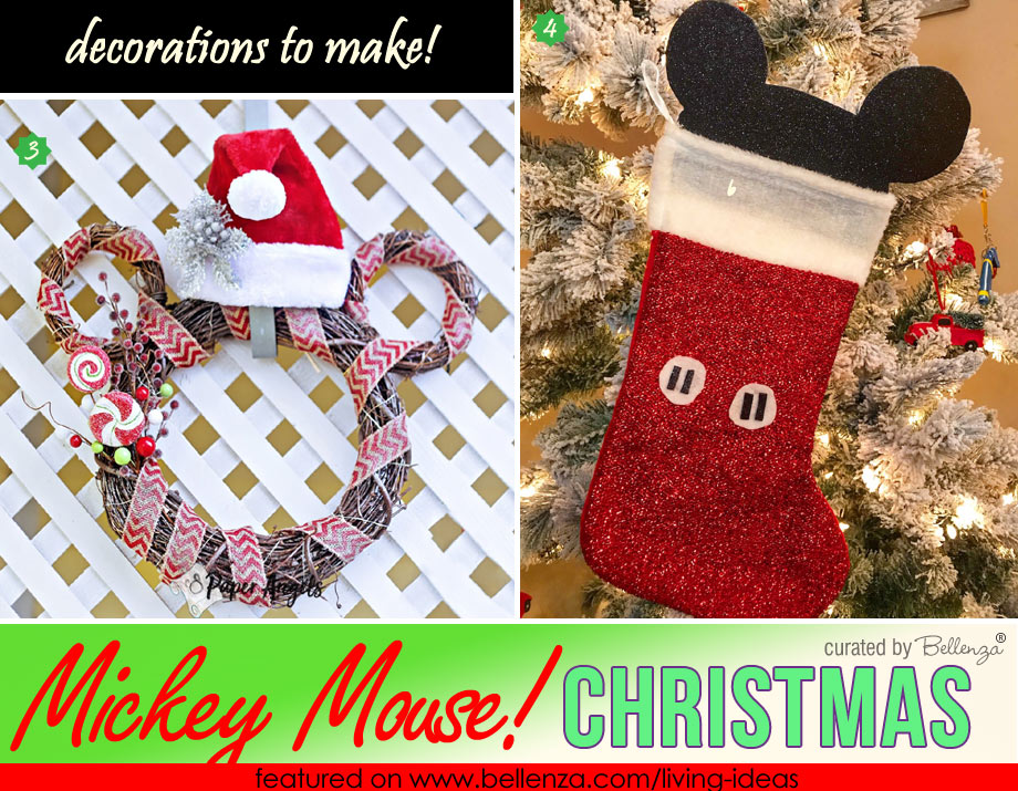 Christmas Decor with Mickey Mouse Theme