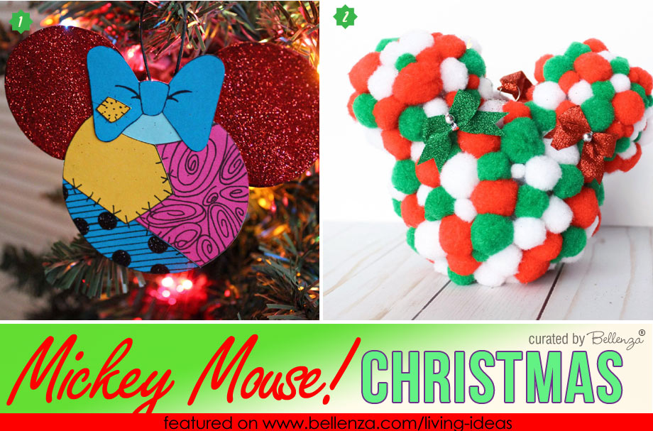Mickey Mouse Themed Christmas Ornaments