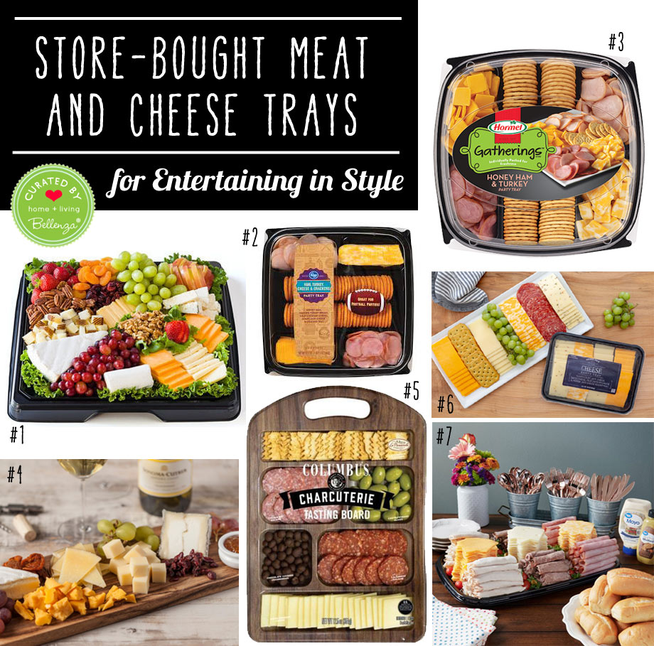 Store-bought cheese and meat trays for easy entertaining