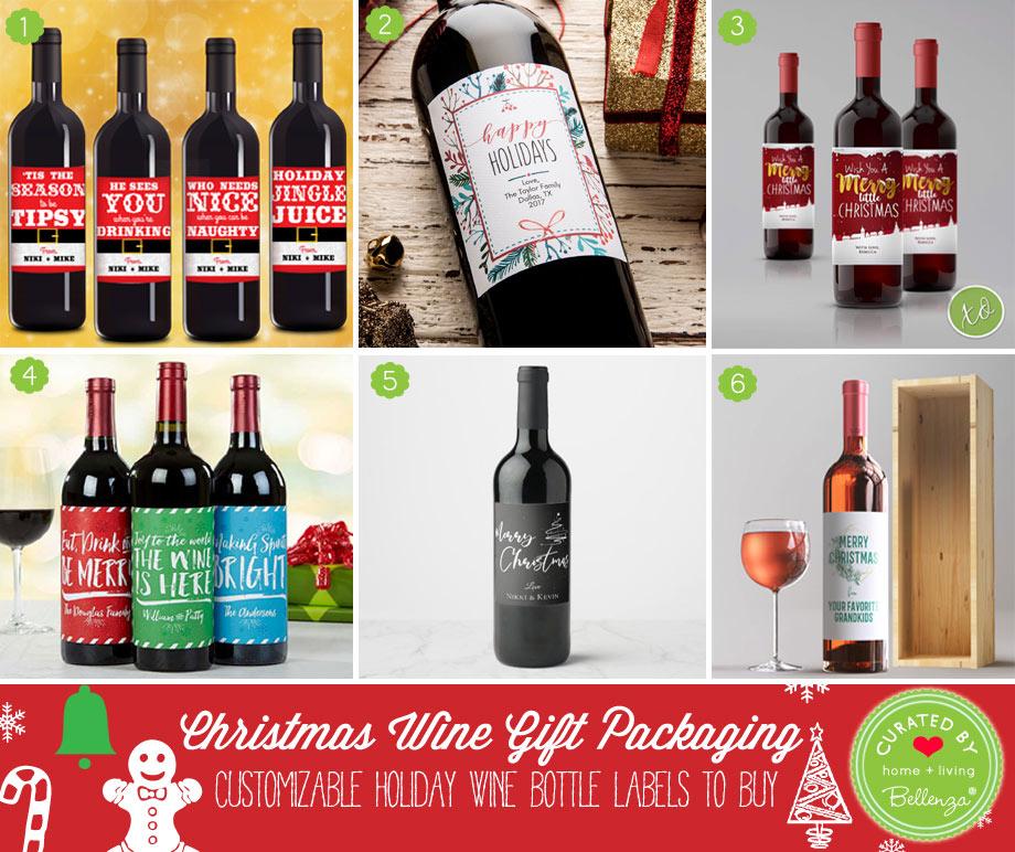 Christmas wine stickers to buy