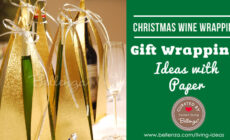 Festive Christmas Wine Bottle Wrap Ideas Using Paper!