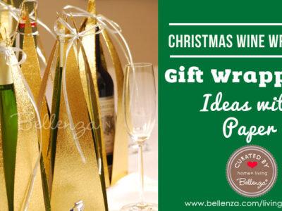Festive Christmas Wine Bottle Wrap Ideas Using Paper!