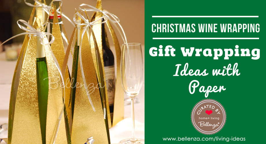 Festive Christmas Wine Bottle Gift Wrapping Ideas Using Paper