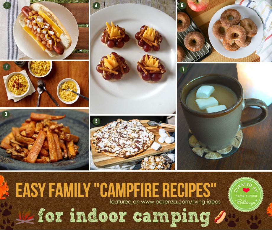 Easy Indoor Camping Food from Snacks to Drinks