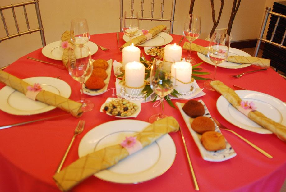 Mid-autumn tablescape for celebrating the mooncake festival