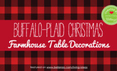 Buffalo Plaid/Check Christmas Farmhouse Table Decorations