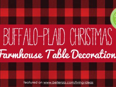 Buffalo Plaid/Check Christmas Farmhouse Table Decorations