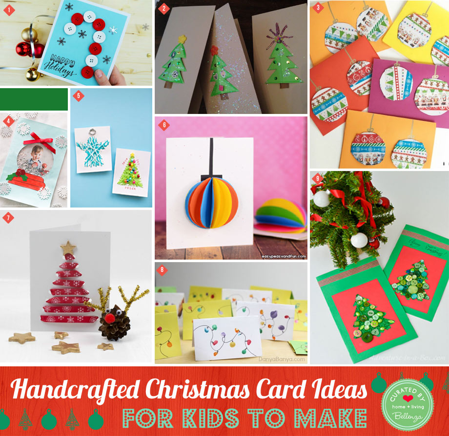 Handcrafted Christmas Card Ideas For Kids To Adults To Make Bellenza Weddings And Parties