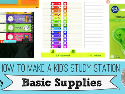 How to Make a Kid's Study Station Using Cardboard. Also called cardboard study carrel, trifold homework station, dividers, privacy screens