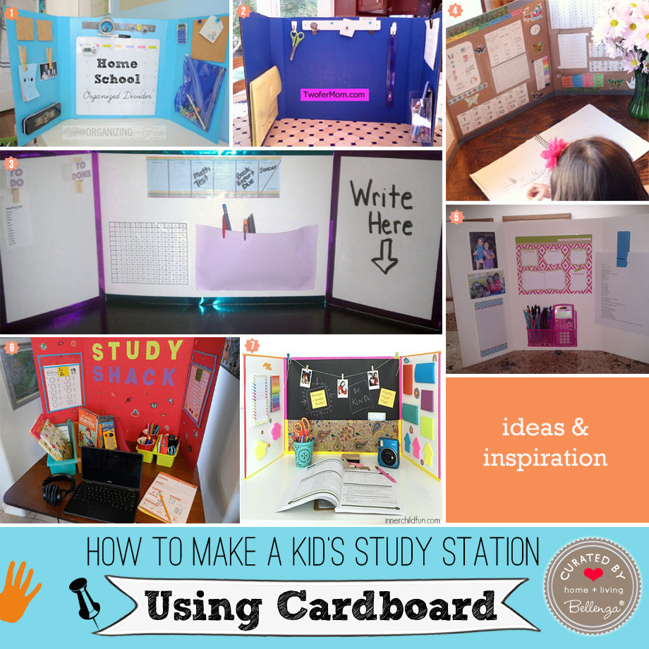 Practical Cardboard Study Stations for Kids
